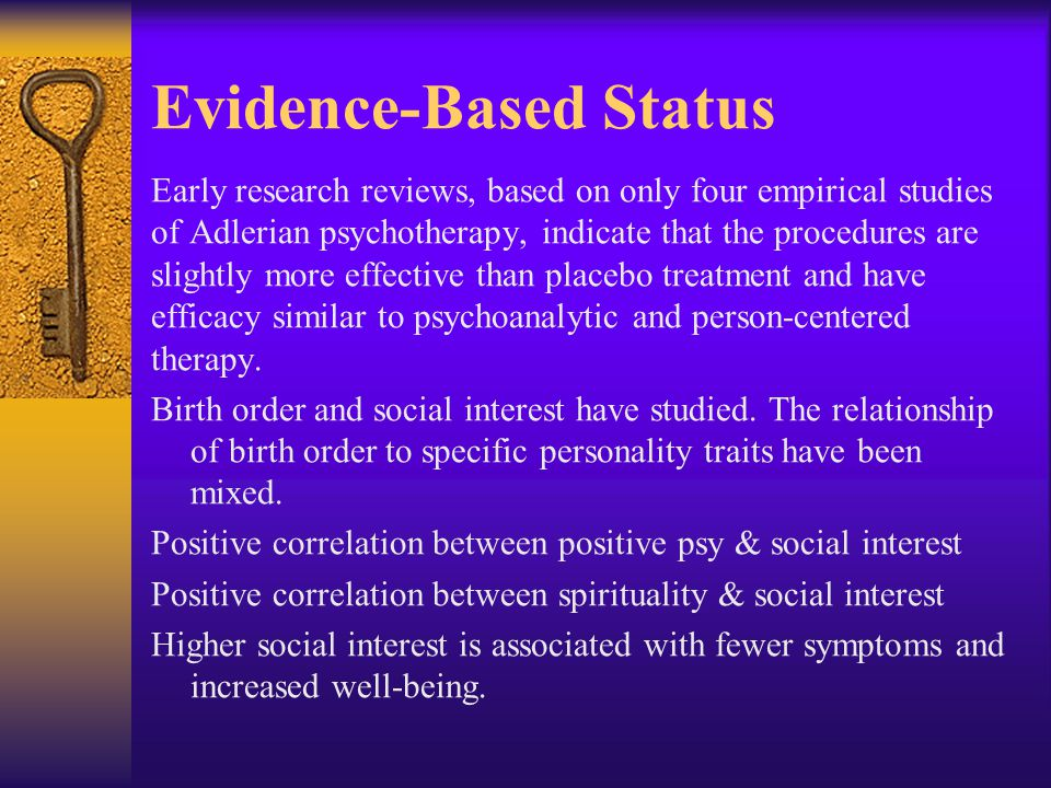 Evidence-Based Status