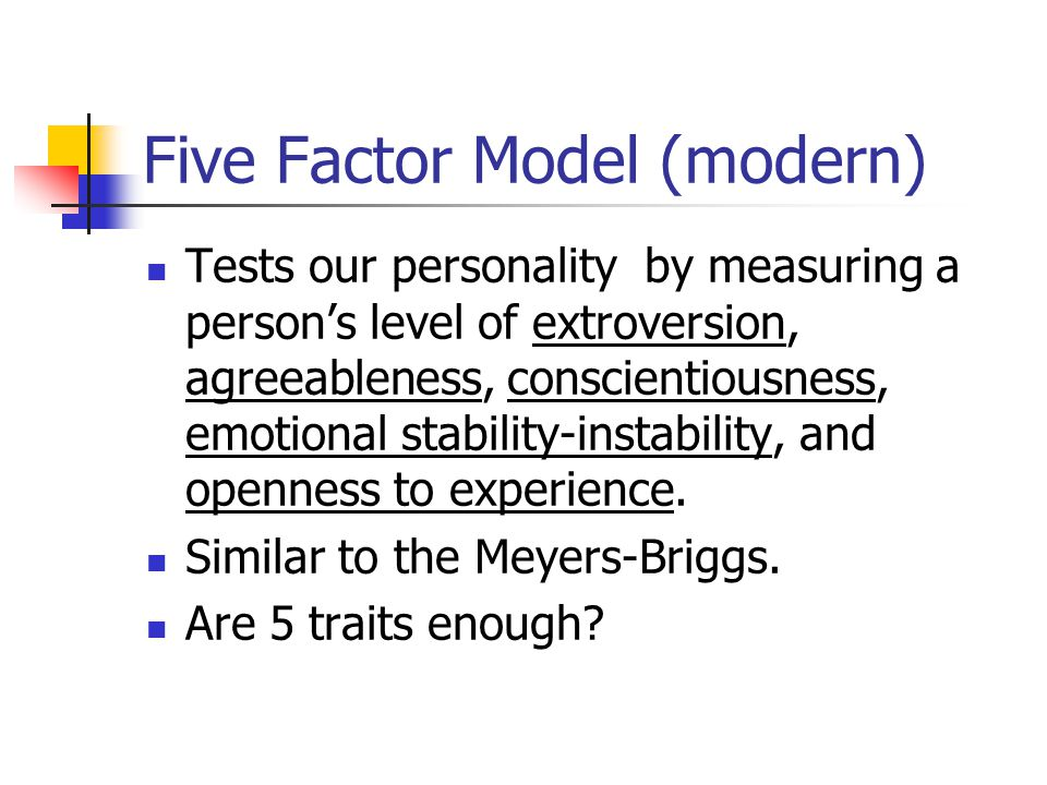 Five Factor Model (modern)