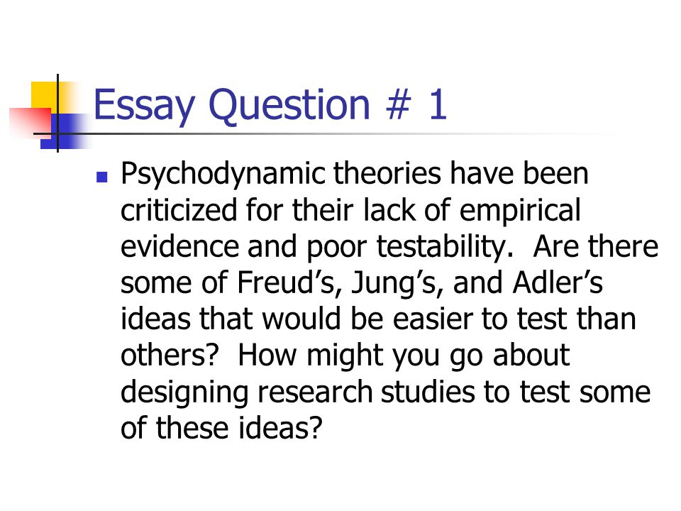 Essay Question # 1