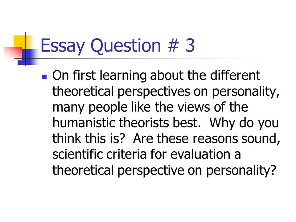Essay Question # 3