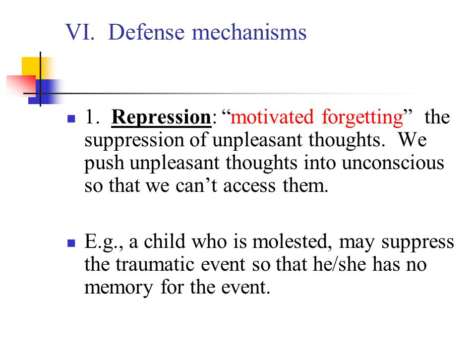 VI. Defense mechanisms
