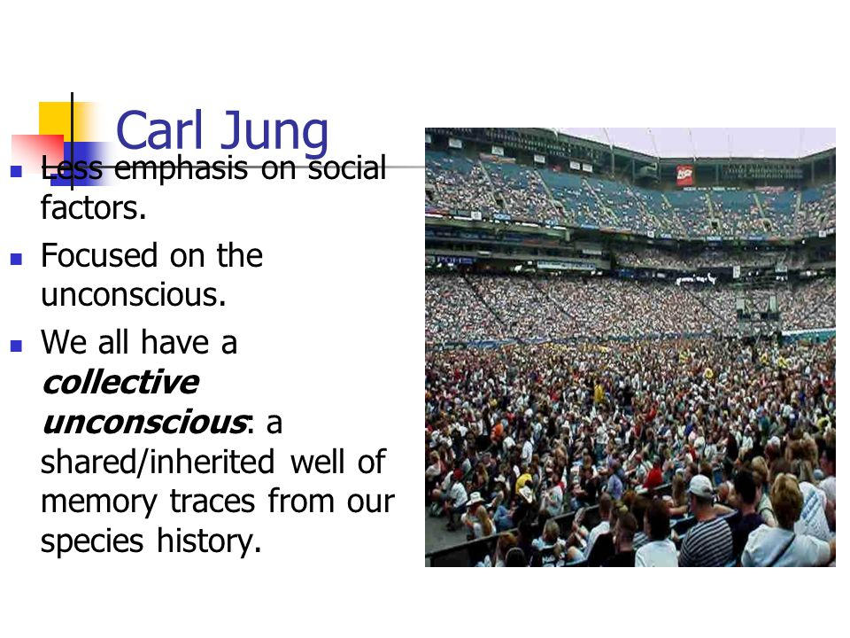 Carl Jung Less emphasis on social factors. Focused on the unconscious.