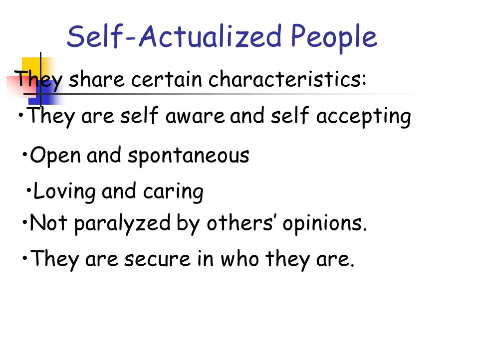 Self-Actualized People