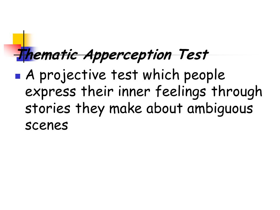 TAT Thematic Apperception Test