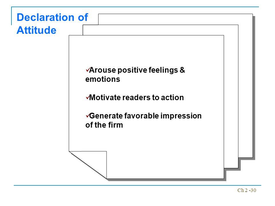 Declaration of Attitude