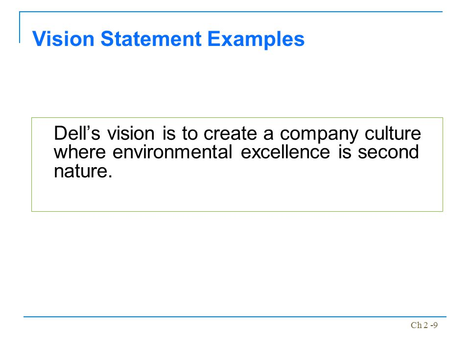 Dell vision and mission statement essay
