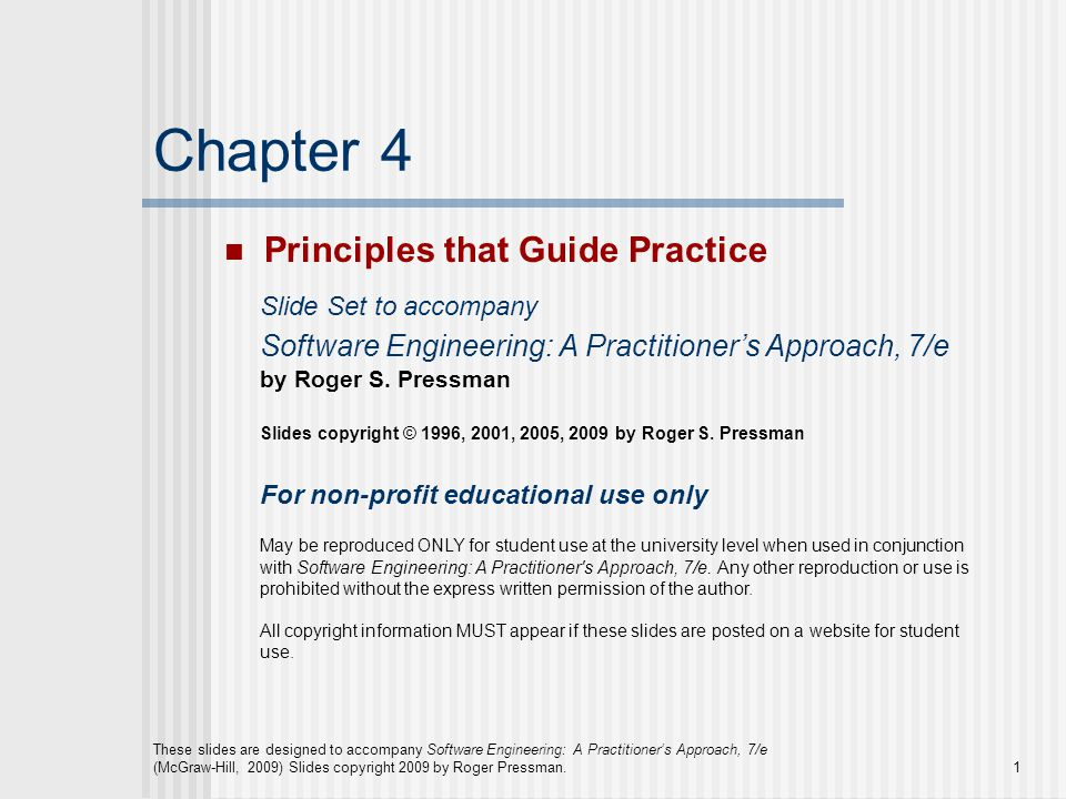 Chapter 4 Principles that Guide Practice