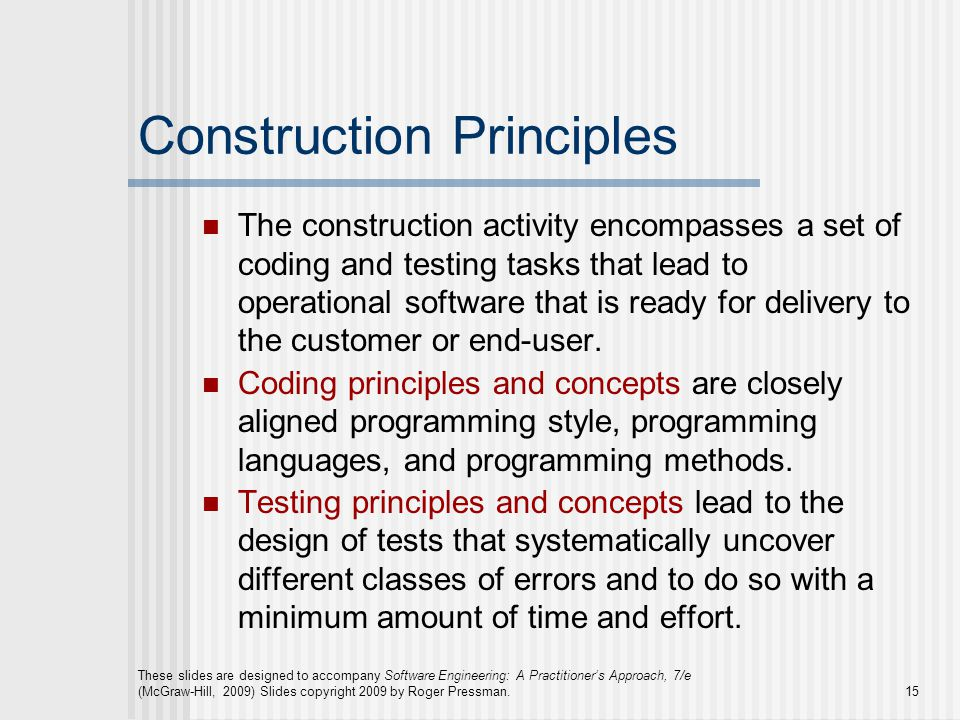 Construction Principles