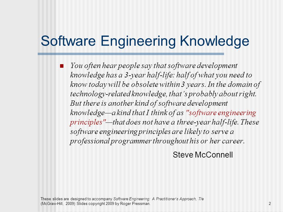 Software Engineering Knowledge