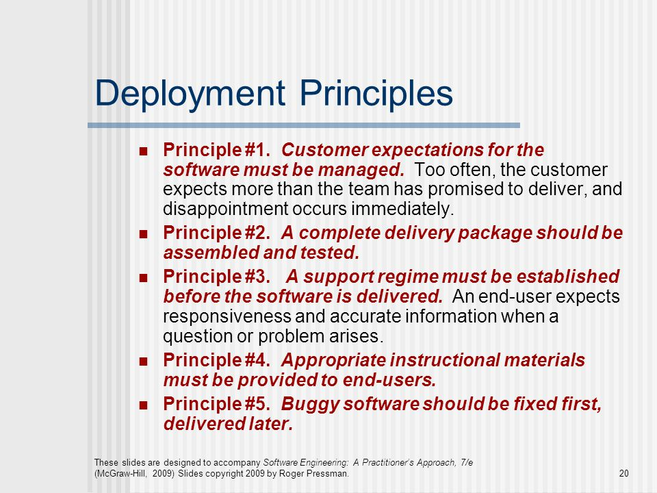 Deployment Principles