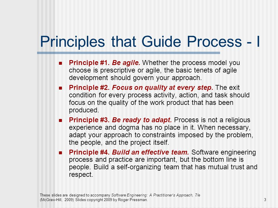 Principles that Guide Process - I