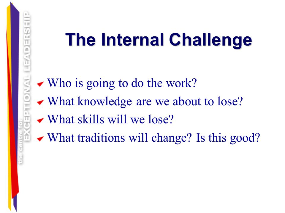 The Internal Challenge