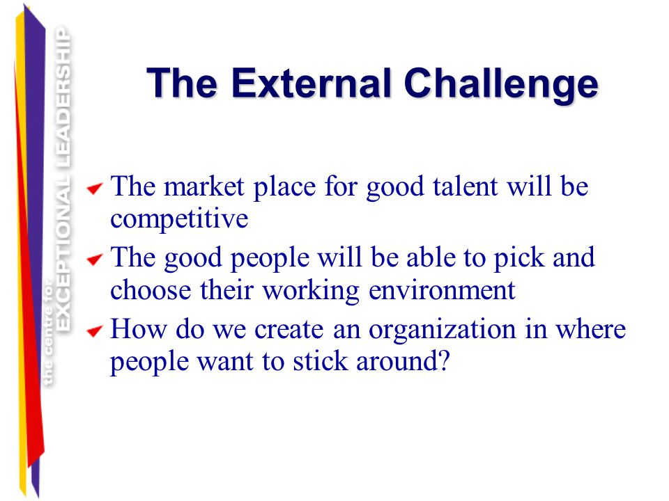 The External Challenge