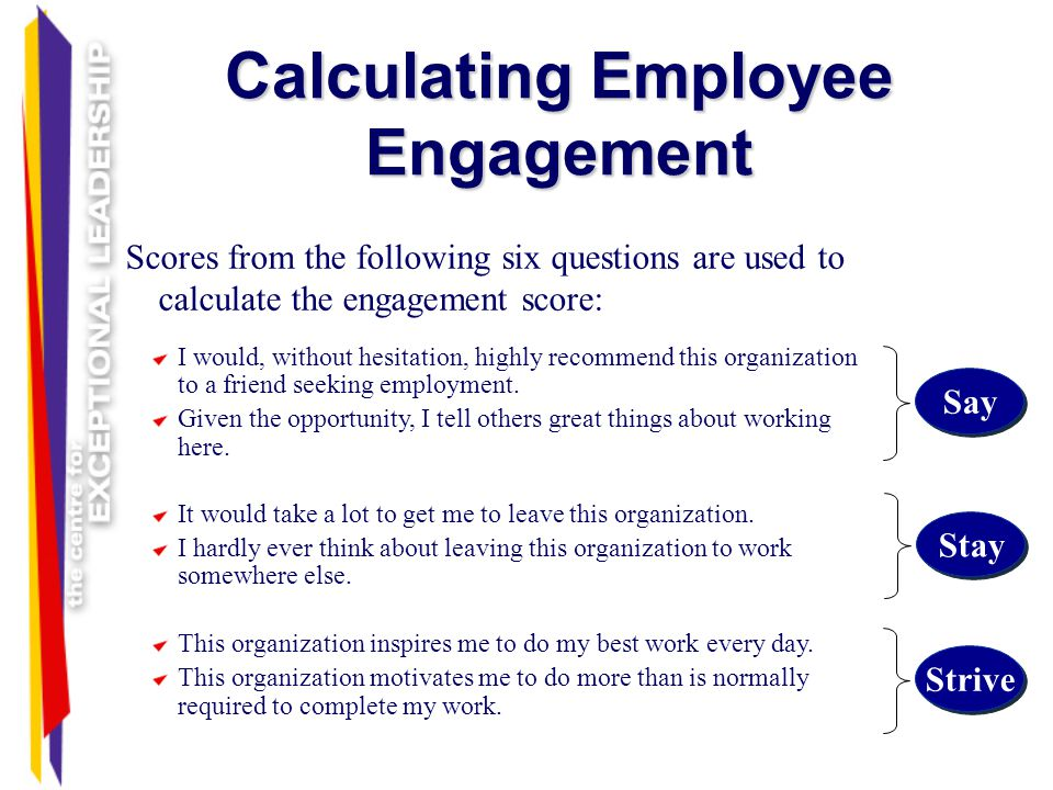 Calculating Employee Engagement