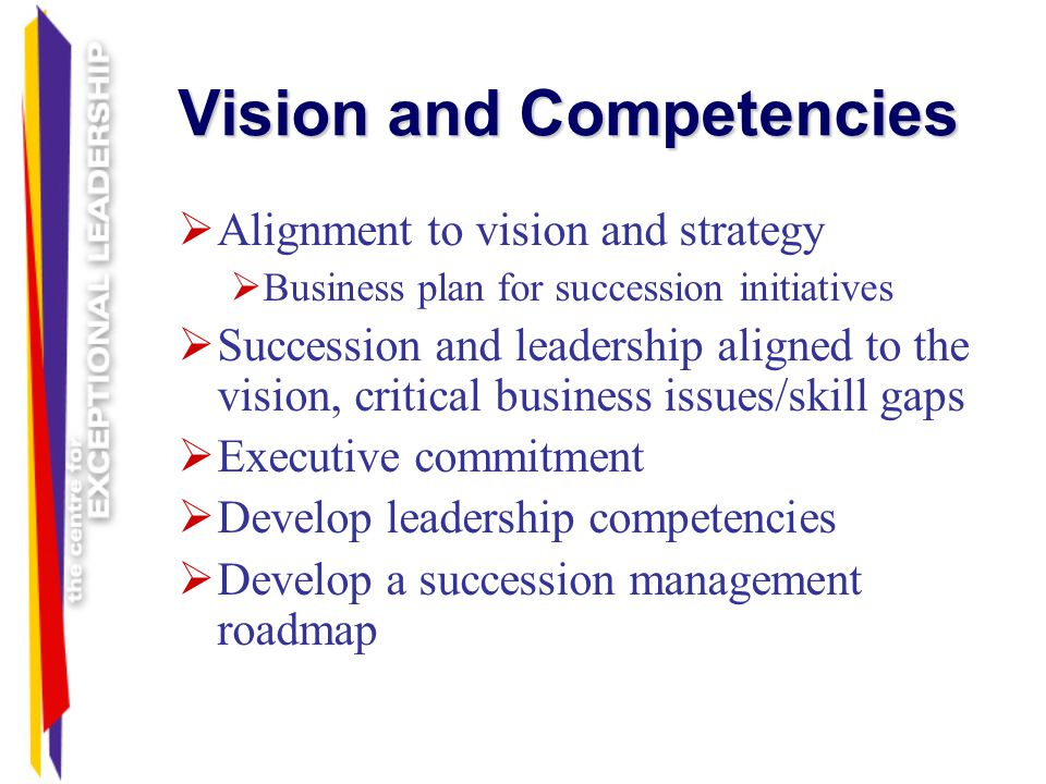 Vision and Competencies