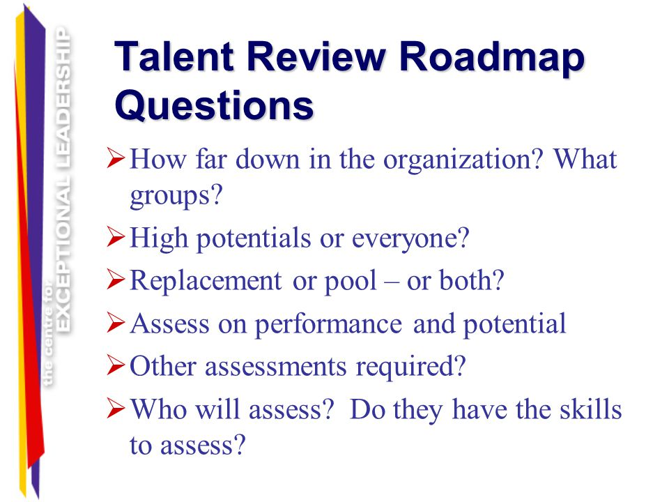Talent Review Roadmap Questions