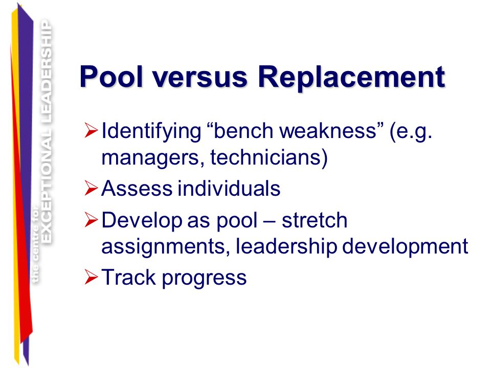Pool versus Replacement