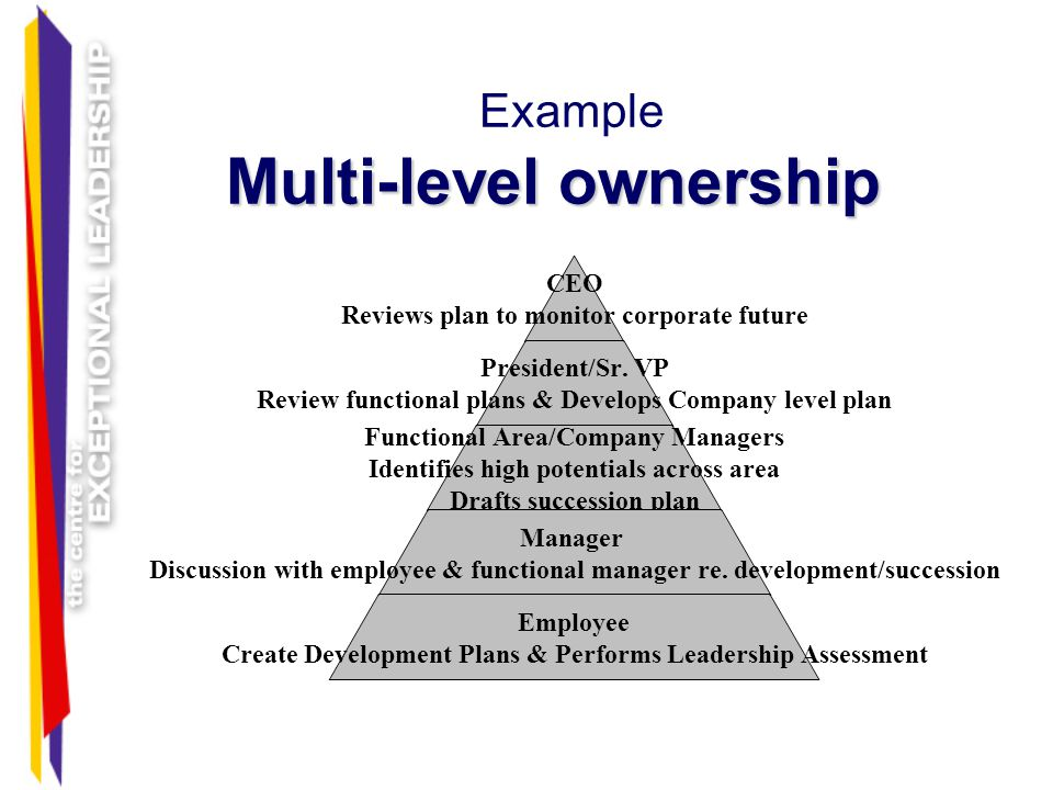 Example Multi-level ownership