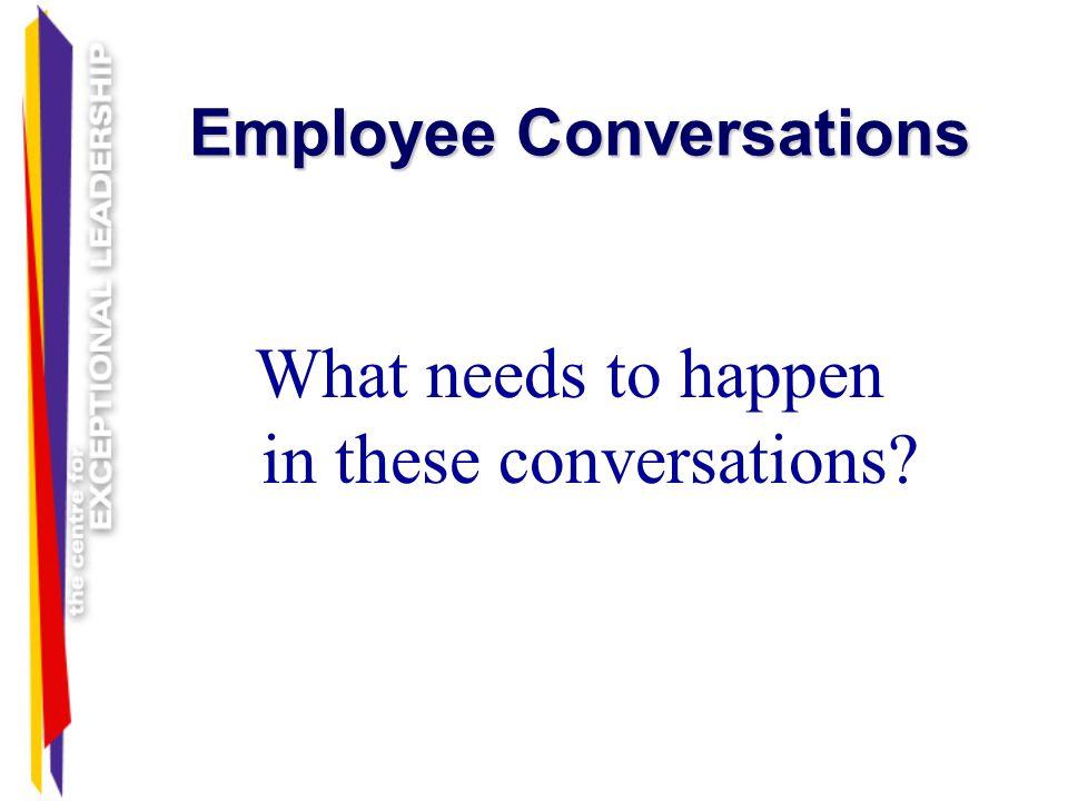 Employee Conversations