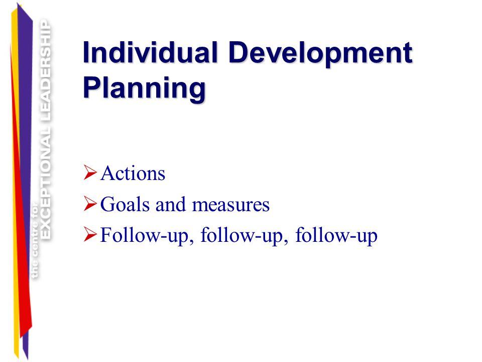 Individual Development Planning