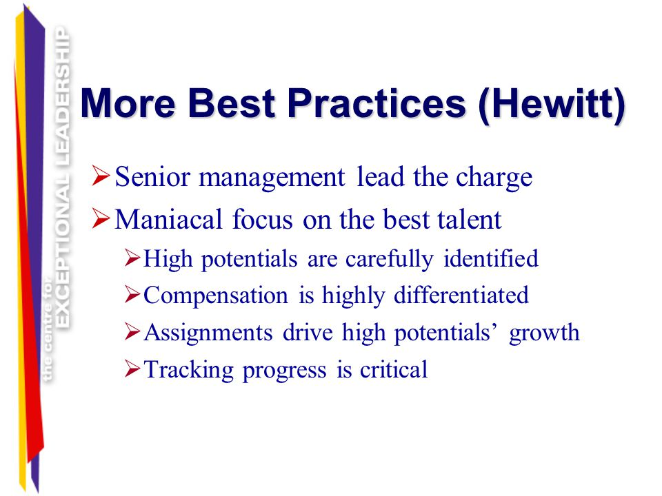 More Best Practices (Hewitt)