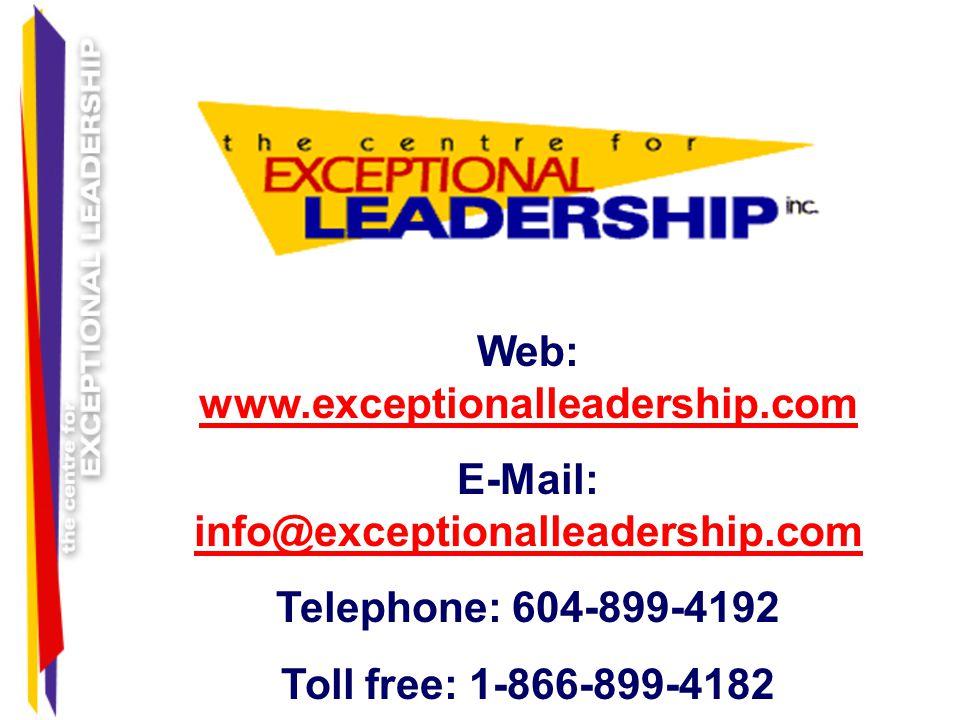 E-Mail: info@exceptionalleadership.com