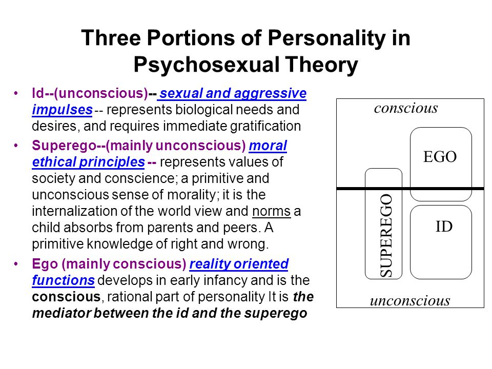 Three Portions of Personality in Psychosexual Theory