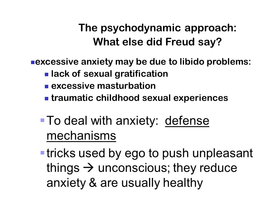 The psychodynamic approach: