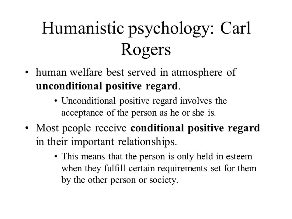 Humanistic psychology: Carl Rogers