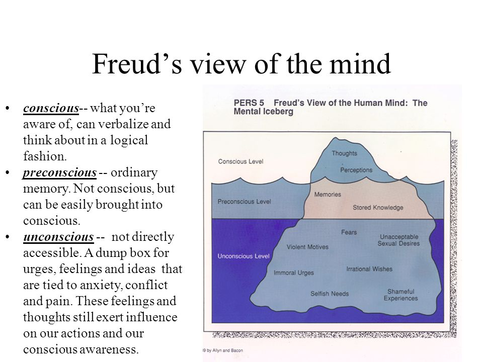 Freud's view of the mind