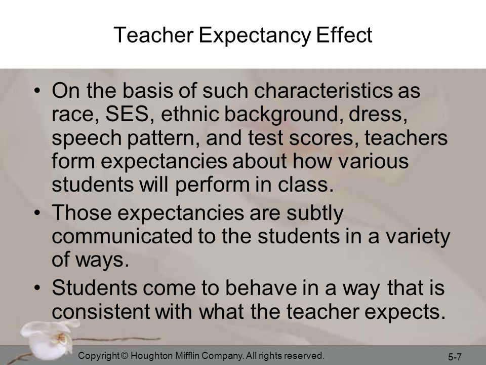 Teacher Expectancy Effect