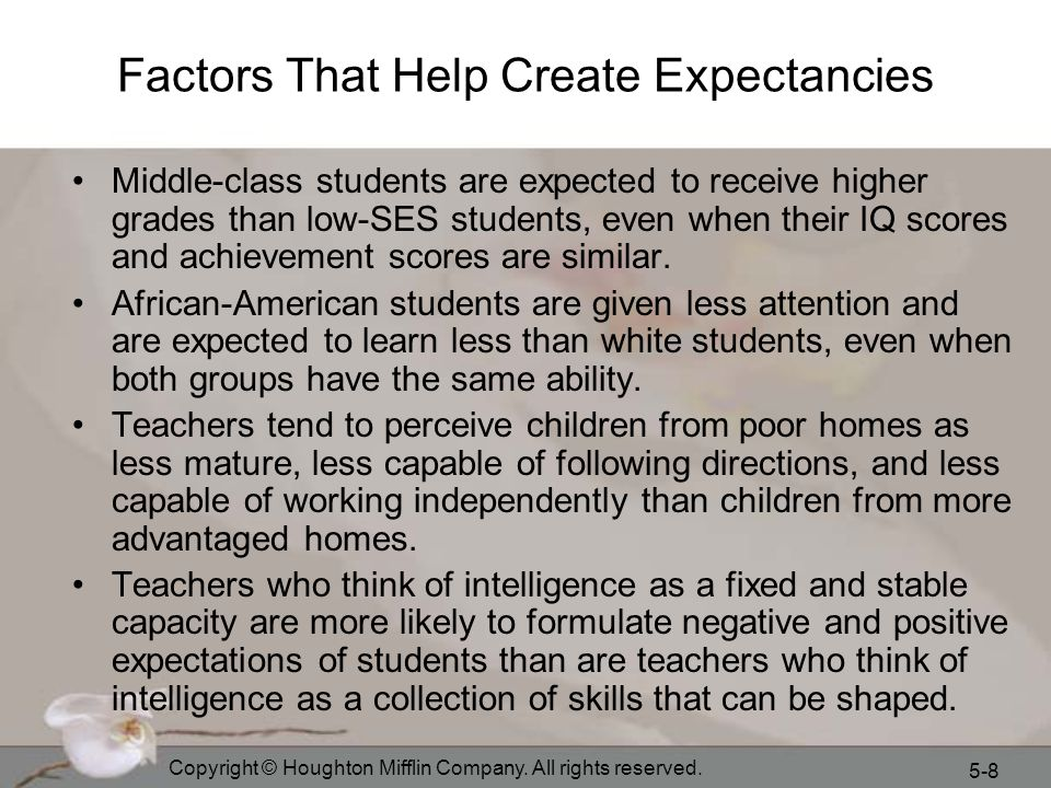 Factors That Help Create Expectancies