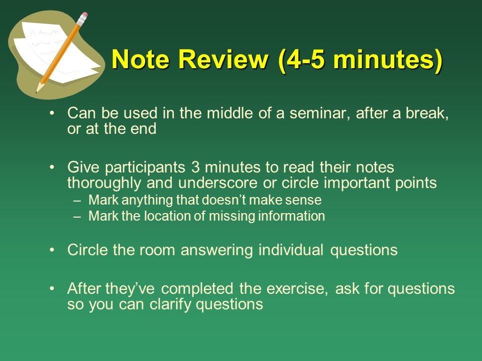 Note Review (4-5 minutes)