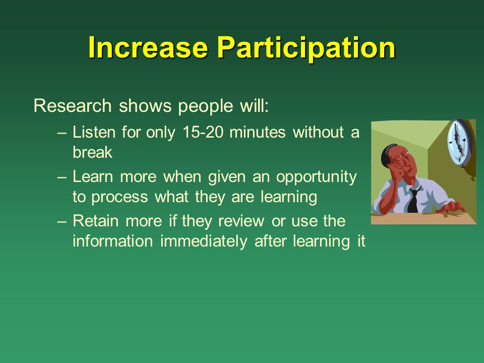 Increase Participation