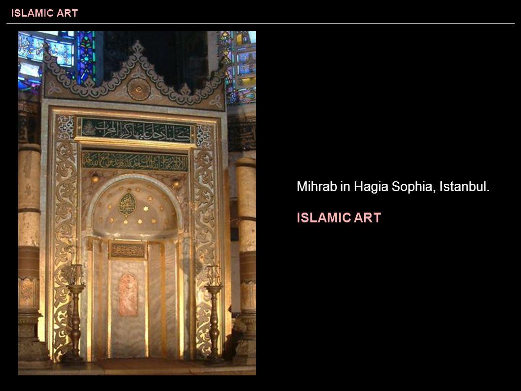 Mihrab in Hagia Sophia, Istanbul.