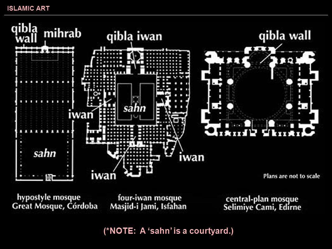 (*NOTE: A 'sahn' is a courtyard.)
