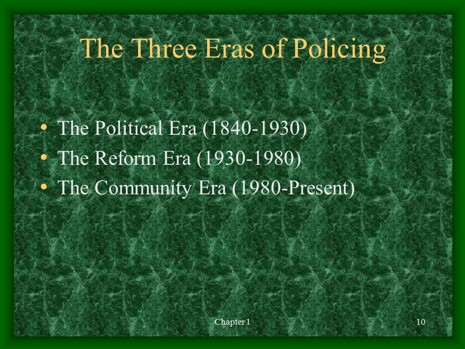 The Three Eras of Policing