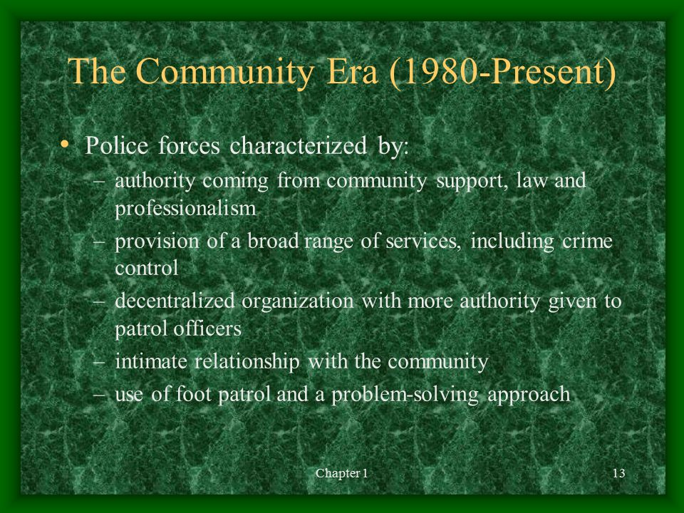 The Community Era (1980-Present)