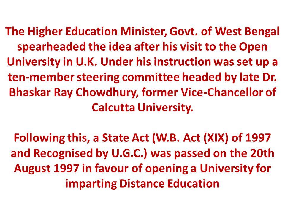 The Higher Education Minister, Govt