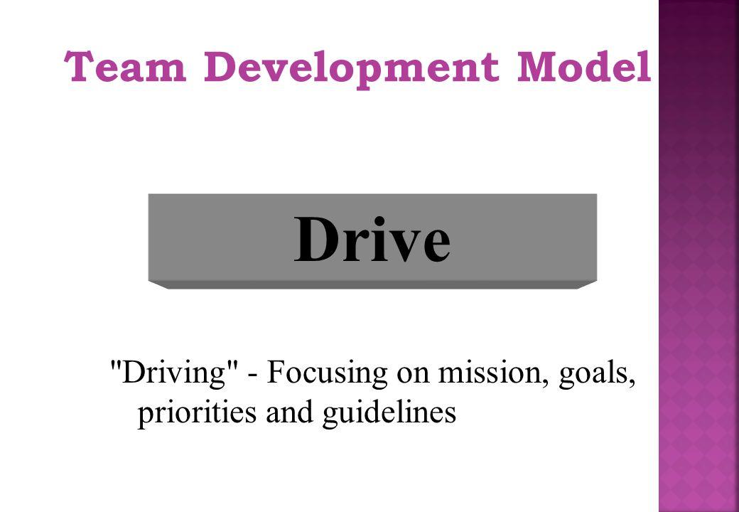 Drive Team Development Model