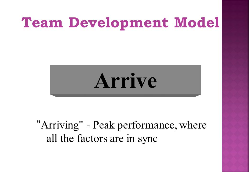 Arrive Team Development Model