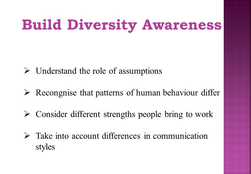 Build Diversity Awareness