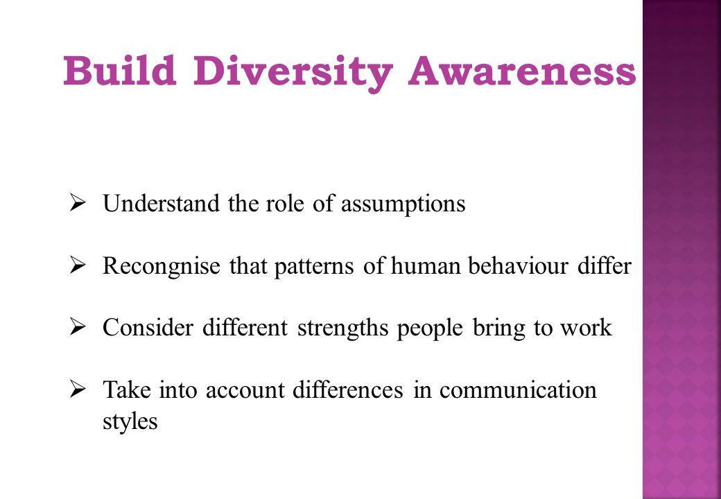 Build Diversity Awareness