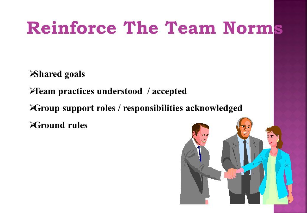 Reinforce The Team Norms