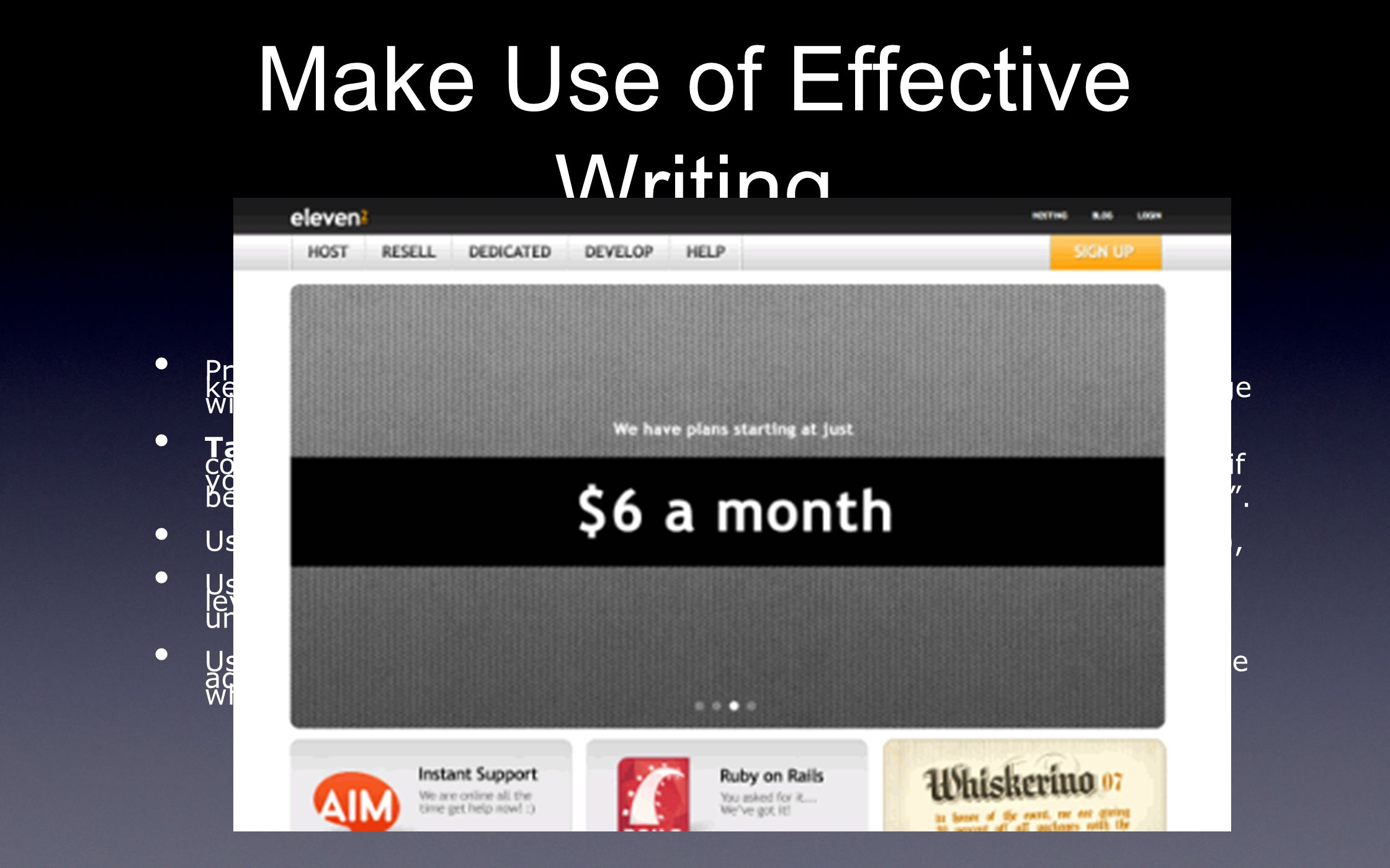 Make Use of Effective Writing