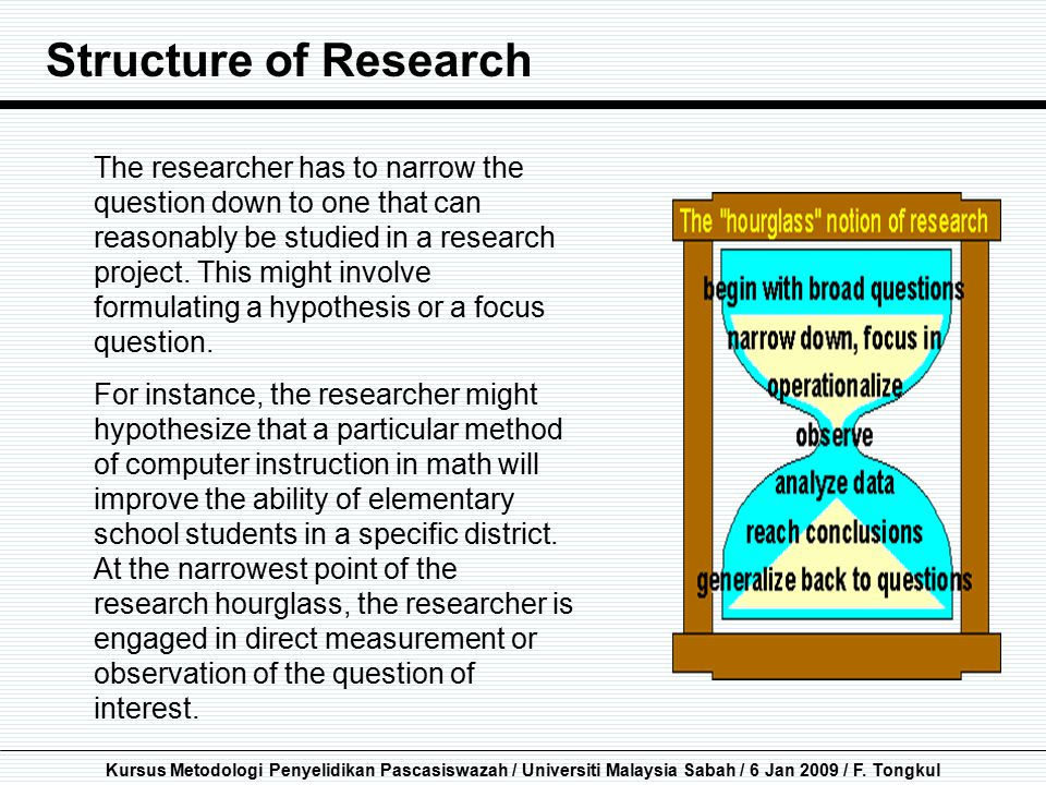 Structure of Research