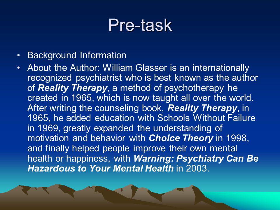 Pre-task Background Information