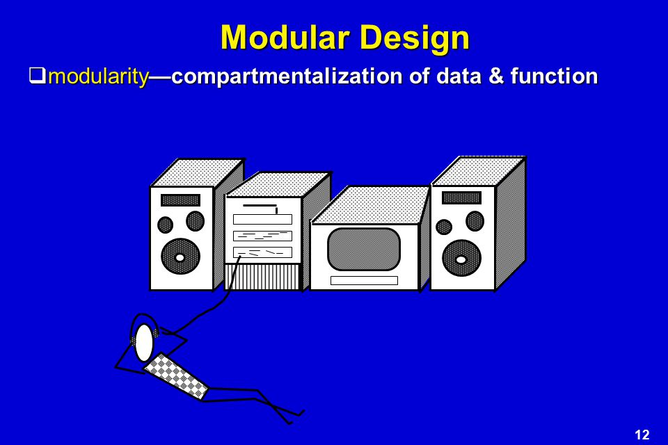 Modular Design modularity—compartmentalization of data & function