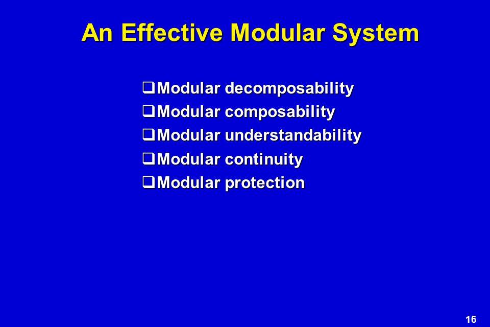 An Effective Modular System