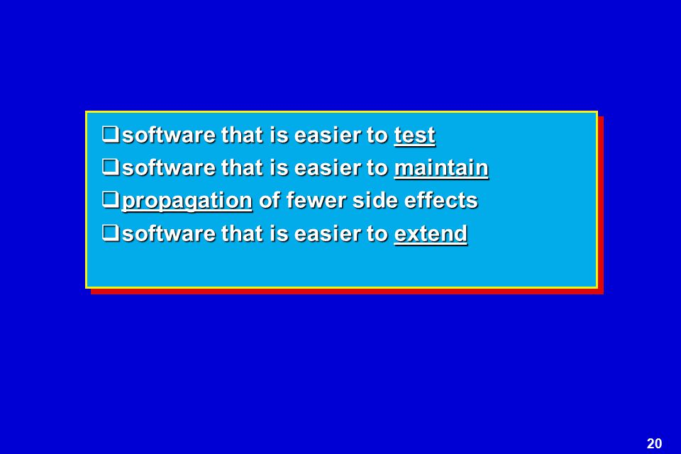 software that is easier to test